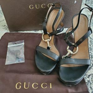 GUCCI Leather Sandals w/Original Box & Dust Bag